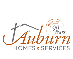 Auburn Homes 90 years logo
