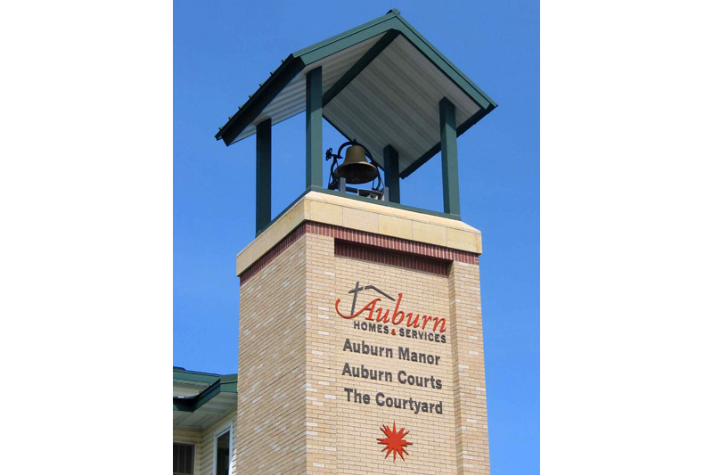 Auburn Courts assisted living bell tower