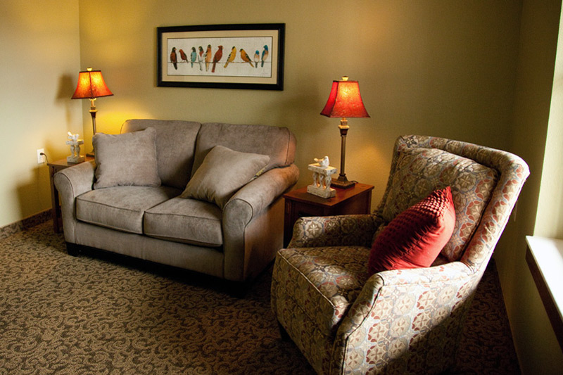 Auburn Meadows assisted living - living room